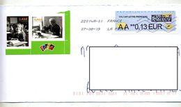 Lettre Flamme Chiffrée Sous Code Sur Vignette DD Complement - 2000 «Avions En Papier»
