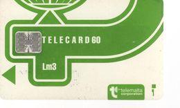 MALTE - TELECARD 60 Vert Clair (bis) - Malte