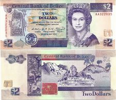 BELIZE      2 Dollars        P-52a       1.5.1990       UNC - Belize