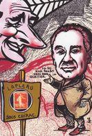 CPM LAPLEAU 19 Corrèze Timbre Monnaie Tirage Limité Numéroté Et Signé En 30 Exemplaires Elie Rouby Chirac - Francia