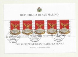 2003 USED San Marino,mi 2119 Sheet - Oblitérés