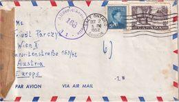 CANADA 1952 PLI AERIEN  CENSURE DE CALT ONTARIO POUR WIEN - Lettres & Documents