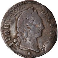 Monnaie, France, Louis XV, Demi Sol D'Aix, 1/2 Sol, 1768, Aix, B+, Cuivre - 1715-1774 Louis XV Le Bien-Aimé