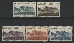 MONACO COTE 25.5 € NEUFS ** MNH N° 195 à 199. Ensemble De 5 Valeurs. TB - Monaco