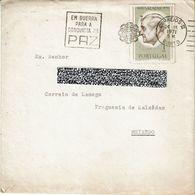 Mechanical Meter EM GUERRA PARA A CONQUISTA DA PAZ  1971 Porto Postmark , Full Letter , Salazar Stamp - Postmark Collection