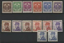 MONACO COTE 88 € NEUFS * MH N° 154 à 166. 15ème Anniversaire De L'avènement Du Prince Louis II. TB - Neufs
