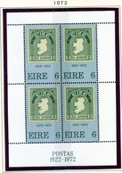 IRELAND  -  1972 First Postage Stamp Miniature Sheet  Unmounted/Never Hinged Mint - Blocks & Sheetlets