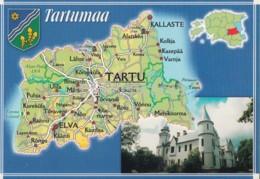 Tartu - Tartu County - Map - Tartumaa - Alatskivi Manor House - Estonia - Unused - Estonia