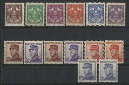 MONACO COTE 162 € NEUFS ** MNH N° 154 à 166. 15ème Anniversaire De L'avènement Du Prince Louis II. TB - Monaco