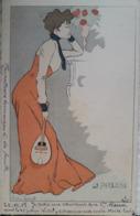 Carte Postale Illustrateur, Signé Lucien Robert, Femme, La Paresse,(53) - Robert