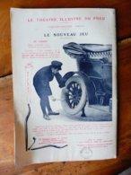 Dessin Publicitaire   Pour  Michelin (Le Théâtre Illustré Du Pneu)   LE NOUVEAU JEU - Transports