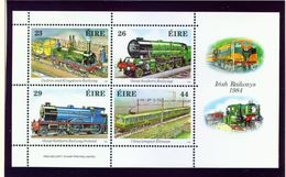 IRELAND  -  1984 Trains Miniature Sheet  Unmounted/Never Hinged Mint - Blocks & Sheetlets