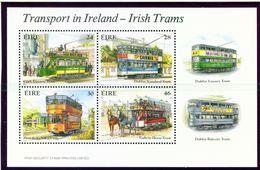 IRELAND  -  1987 Trams Miniature Sheet  Unmounted/Never Hinged Mint - Blocks & Sheetlets