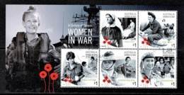 Australia 2017 Women In War - Century Of Service Minisheet CTO - 2010-... Elizabeth II