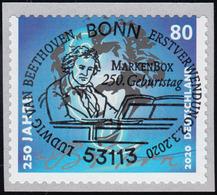 3520 Ludwig Van Beethoven, Selbstklebend Aus Rolle, EV-O Bonn 2.3.2020 - [7] Federal Republic
