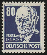 339va XI Ernst Thälmann 80 Pf Blau Wz.2 XI ** Geprüft - Unclassified