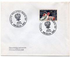 RALLYE PHILATEC 64 AUTRICHE = PONTARLIER + PARIS 1964 = CACHET TEMPORAIRE  Illustré D' ARMOIRIES - Bolli Commemorativi