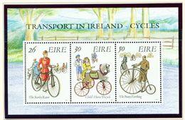 IRELAND  -  1991 Bicycles Miniature Sheet  Unmounted/Never Hinged Mint - Blocks & Sheetlets