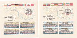 CSSR, 1982, 2679/80 Block 51/52, MNH **, Donaukommission. - Hojas Bloque