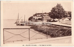 Blaye - Le Quai Et La Gare - 49 - 1958 - Old Postcard - France - Used - Blaye