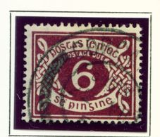 IRELAND  -  1953-69 6d Postage Due Used As Scan - Segnatasse
