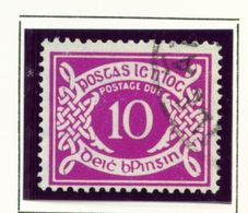 IRELAND  -  1953-69 10d Postage Due Used As Scan - Segnatasse