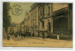 56 VANNES Bel Aspect Toilé Couleur Rue Du Méné Commerce Anim 1907 Timb - Coll H Laurent 2340    D15 2020 - Vannes