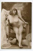 NU French Charm 096 Jean  AGELOU JA Série 72 Modèle FERNANDE Nue  Fauteuil De Face Voile Blanc   EROTISME - Fine Nudes (adults < 1960)
