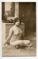 NU French Charm 098 Jean  AGELOU JA Série 64   Jeune Femme Nue Orientalisme Assise En Tailleur Cambrée Poitri EROTISME - Fine Nudes (adults < 1960)