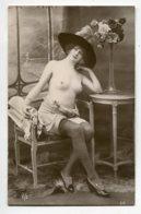 NU French Charm 110  Edit VB Série 66  Jeune Femmeà Chapeau Poitrine Dénudée Bas Salon    - EROTISME - Fine Nudes (adults < 1960)