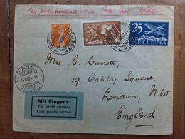 SVIZZERA 1924 - Busta Spedita A Londra - Via Parigi - Con Francobollo Da 35 C. + Spese Postali - Svizzera