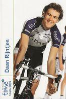 CARTE CYCLISME DAAN RIJNTJENS TEAM TIME 2007 - Wielrennen