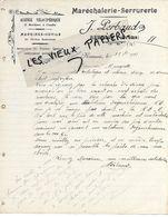 26 - Drôme - REMUZAT - Facture PERBAUD - Maréchalerie, Serrurerie, Machines Outils - 1913 - REF 154B - France