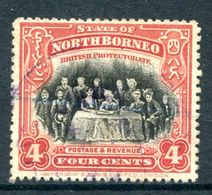 North Borneo 1909-23 Pictorials - 4c The Sultan Of Sulu - P.14½-15 - Postally Used (SG 164b) - North Borneo (...-1963)
