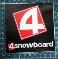 4 SNOWBOARD STICKER KLEBER ADESIVO NEW ORIGINAL - Adesivi