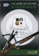 """Germany 2011 Erinnerungsblatt/Folder Schützenbund M. Mi.Nr.2881 U.ESST""""Berlin-150 Jahre Dt.Schützenbund""""1 Big Klappkarte - Tiro (armi)"""