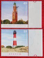 Leuchttürme Les Phares Lighthouse 2007 Mi 2612-2613 Neuf Sans Charniere POSTFRIS MNH ** Germany BRD / Allemange - Nuovi
