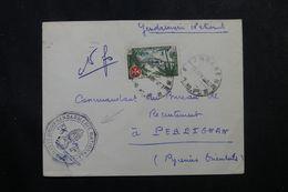 A.E.F. - Enveloppe De La Gendarmerie De Lambarene Pour La France En 1957, Affranchissement Plaisant -  L 63568 - A.E.F. (1936-1958)