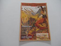 HAUTE SAVOIE - CHAMONIX MONT BLANC - N°1280 - Reproduction Affiche Ancienne CHEMIN DE FER ELECTRIQUE - Chamonix-Mont-Blanc