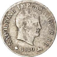Monnaie, États Italiens, KINGDOM OF NAPOLEON, Napoleon I, 10 Soldi, 1810 - Napoleonic