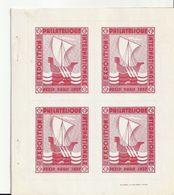 """Lot De 3 Blocs De 4 De Vignettes De L'Exposition Internationale Paris, 1937"""" - Expositions Philatéliques"""