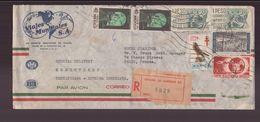 """Mexique Enveloppe à En-tête """" Viajes Mundiales """" Recommandée Du 21 Février 1962 De Mexico Pour Paris - Mexiko"""