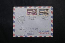WALLIS ET FUTUNA - Enveloppe De Mata Utu Pour Nouméa En 1958 , Affranchissement Plaisant -  L 63580 - Storia Postale