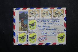 WALLIS ET FUTUNA - Enveloppe De Mata Utu Pour Paris En 1989 , Affranchissement Plaisant -  L 63582 - Covers & Documents