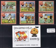 Laos - 1982 - Sc 379 - 385 - 1982 World Cup Spain - MNH - 1982 – Spain