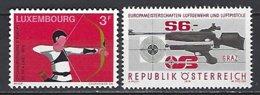 Autriche Yv 1428 Tir Armes,+ Luxemourg Yv 798 Tir à L'arc ** - Tiro (armi)