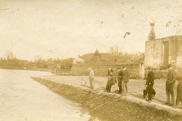 Chatellerault Vienne Pêcheurs Photo Format 5.5x8.5 - Anciennes (Av. 1900)
