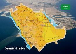 Saudi Arabia Country Map New Postcard Saudi Arabien Landkarte AK - Saudi-Arabien