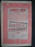 Action De Capital De 1929 BUYSINGHEN - AUTOMOBILES MIESSE ET USINES BOLLINCKX - Automobile