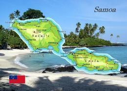 Samoa Country Map New Postcard Landkarte AK - Samoa